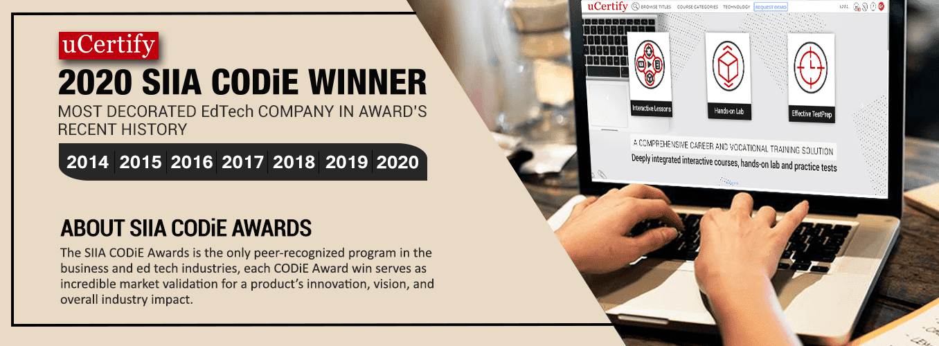 CODiE Award winning certification prep provider for CompTIA A+, CompTIA Security+, CompTIA Network+, PMI PMP and CISCO CCNA